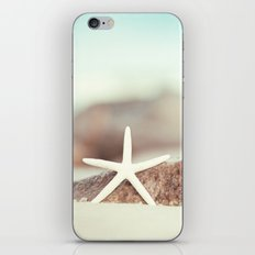 Starfish Beach Photography, Aqua Coastal Seashore Photo iPhone & iPod Skin