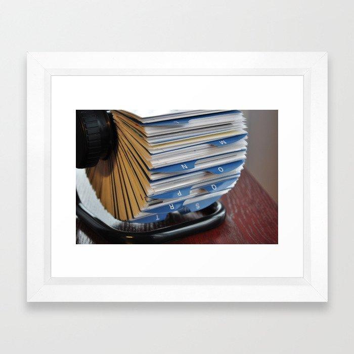 business card holder rolodex Framed Art Print by tony4urban   Society6