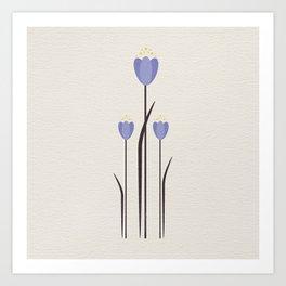 Minimal Bluebells Art Print