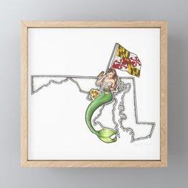 Maryland Mermaid Framed Mini Art Print