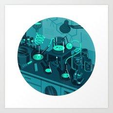 The Lab Art Print