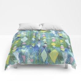 Geometric Slide in Cool Blue Comforters