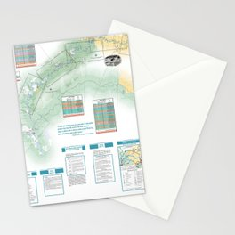 BLM - Detailed Rogue River Overview Map (2018) Stationery Cards