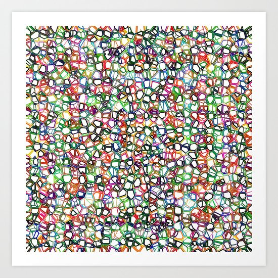 Crazy Paving Art Print