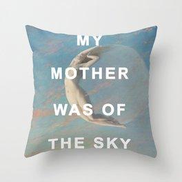 Selene of the Sky Throw Pillow