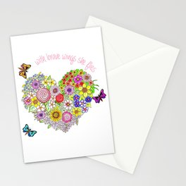 With brave wings, she flies Stationery Cards