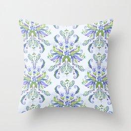 Blue Medallion Throw Pillow