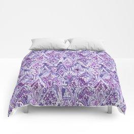 DROPS OF WONDER Ultra Violet Ikat Tribal Comforters