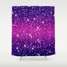 Glitters Sparkles Purple Pink Texture Shower Curtain