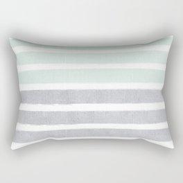 Huntley - striped gender neutral nursery baby decor trendy pattern art Rectangular Pillow