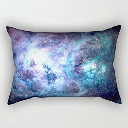 Tarantula Nebula Blue Lavender Gold Rectangular Pillow