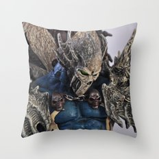 blue Spawn Throw Pillow