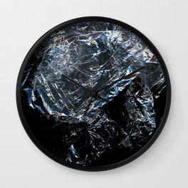 Clear Crumpled Plastic Wall Clock