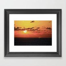 End of Day Fire Framed Art Print