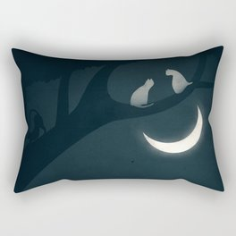 How socialisation and good experiences affect our happiness Rectangular Pillow