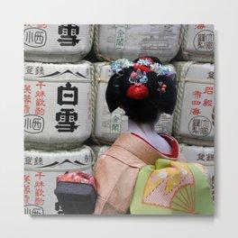 Geisha Maiko III Metal Print