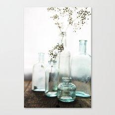 Aqua Glass - Vintage Canvas Print