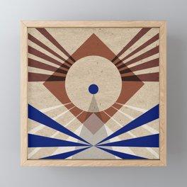 Textured signals Framed Mini Art Print