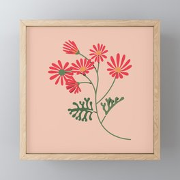 Look for Light - Coral + Apricot Framed Mini Art Print