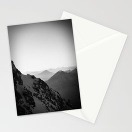 Mountain Side Black and White Photo Europe Nature Stationery Cards