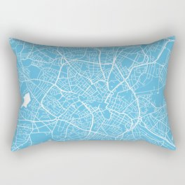 Birmingham map blue Rectangular Pillow