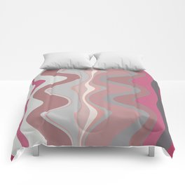 Distorted stripes in colour 4 Comforters