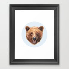 Brown Bear portrait Framed Art Print
