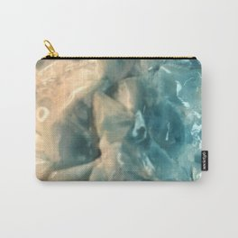 LARIMAR Raw Crystal Blue  (Said to Cool Anger & Calm Stress) from the Caribbean Carry-All Pouch
