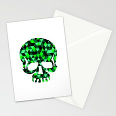 Triangle Camouflage Skull (WITHE) Stationery Cards
