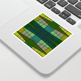 Green Pattern Turtle Sticker