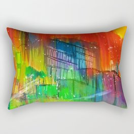 Dorms and Skies  Rectangular Pillow