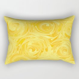 Honey Yellow Roses Abstract Rectangular Pillow