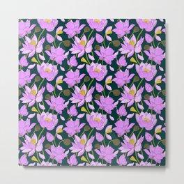 Lotuses Metal Print