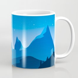 Blue mountains Twilight Coffee Mug