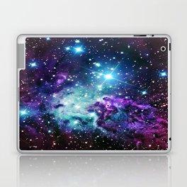 Fox Fur Nebula : Purple Teal Galaxy Laptop & iPad Skin