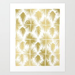 Radiate Gold Art Print