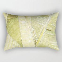 Banana Leaves Watercolor Rectangular Pillow