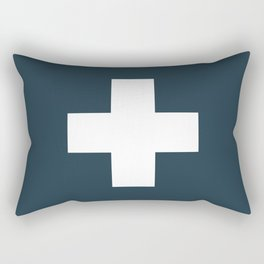 Swiss Cross Storm Rectangular Pillow