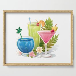 Tropical Drinks#1 Serving Tray