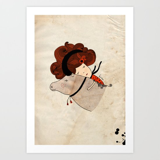 Taurus Girl Art Print