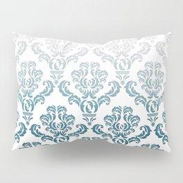 DAMASK GREY TO TEAL Pillow Sham