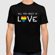 ALL YOU NEED Black 2X-LARGE Mens Fitted Tee