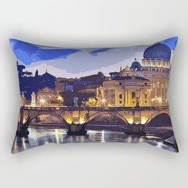 Rome, sunset over the St Peter's Basilica Rectangular Pillow
