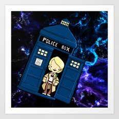 Tardis in space Doctor Who 5 Art Print