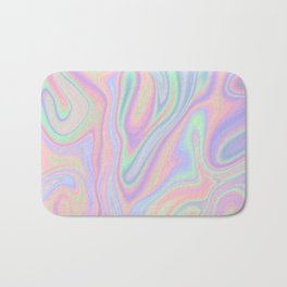 Liquid Colorful Abstract Rainbow Paint Bath Mat