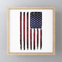 United states flag Framed Mini Art Print