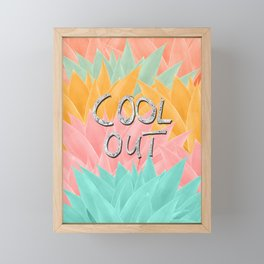 COOL OUT #2 #motivational #typo #decor #art #society6 Framed Mini Art Print
