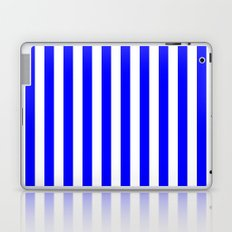 Vertical Stripes (Blue/White) Laptop & iPad Skin