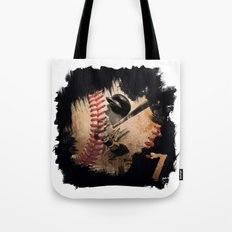 Craig Biggio Illustration in Black Tote Bag