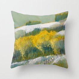 First Snow Landscape Painting / Dennis Weber / ShreddyStudio Throw Pillow